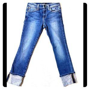"Joe's Jeans ""Judi"" Dark Blue Cuffed Denim Capris"